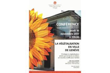 Conférence Végétalisation - G. Barazzone - Association pour la Sauvegarde du Petit-Saconnex Village