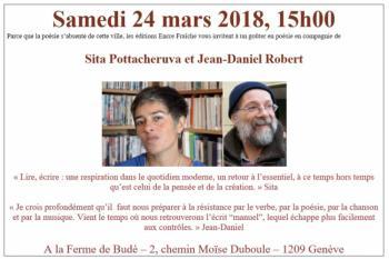 Goûter en Poésie avec Sita Pottacheruva et Jean-Daniel Robert