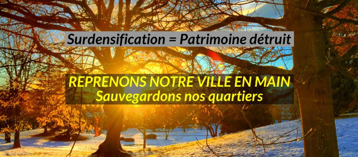 Reprenons la ville en main - Surdensification = Patrimoine détruit - Association pour la Sauvegarde du Petit-Saconnex Village